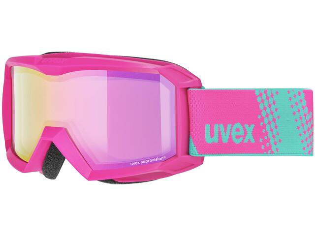 UVEX Flizz FM Lunettes de protection Enfant, pink/mirror pink
